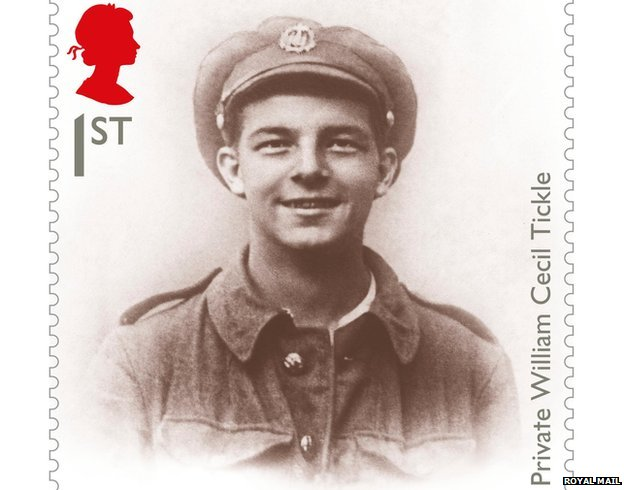 Stamp featuring Pte William Tickle