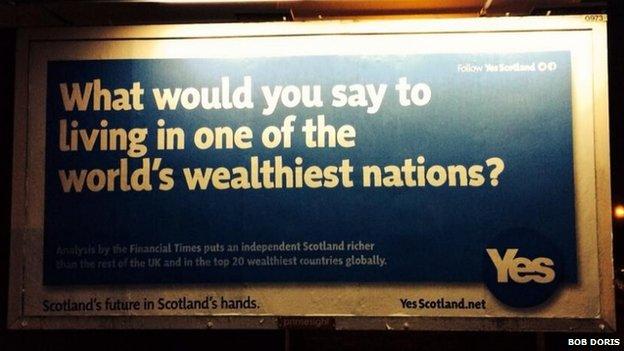 Yes Scotland billboard