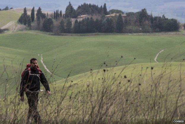 Jerome Kerviel walking in Italy
