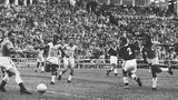 Pele scores Brazii's winner at the 1958 World Cup