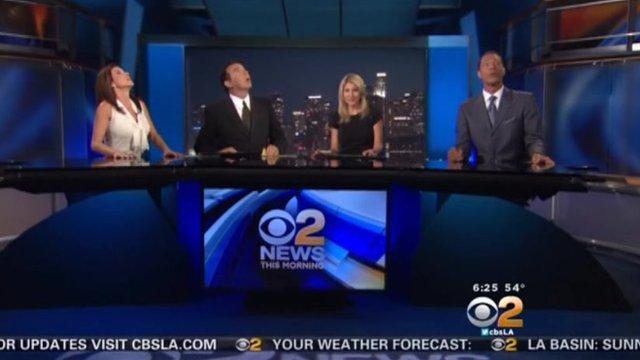 CBS morning presenters react to the earthquake