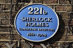 Sherlock Holmes plaque