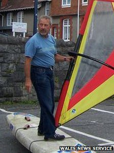 Vic Pinheiro taught windsurfing and sailing at Mumbles Yacht Club for years