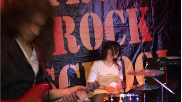Rehearsal at Mitrovica Rock School