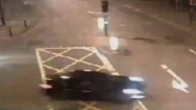 CCTV footage of a sports car