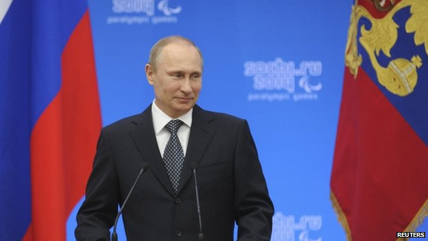 Russian President Vladimir Putin in Sochi (17 March 2014)