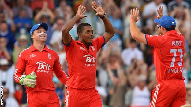 Jos Buttler, Chris Jordan and Stephen Parry
