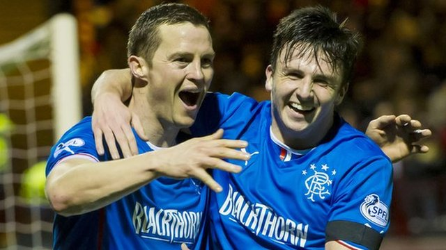 Jon Daly and Calum Gallagher celebrate