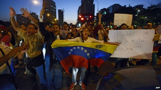 Protests in Caracas, 17 March 14