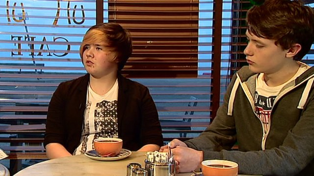 Young voters in a cafe in Scotland