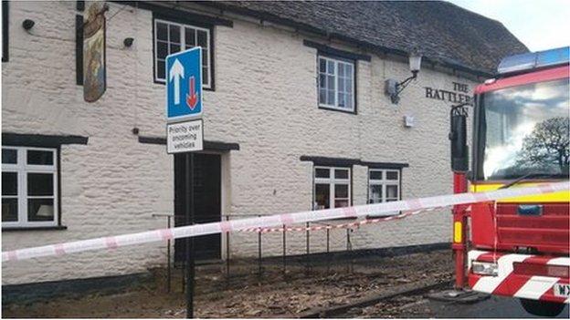 Rattlebone Inn fire
