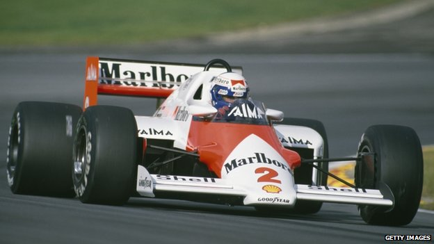 McLaren racing car in 1985