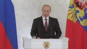 President Vladimir Putin (18 March 2014)