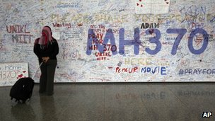 Messages of support for passengers onboard MH370