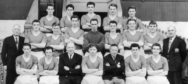 McGuinness (back row, second from left) was part of a Manchester squad that also included Bobby Charlton and Duncan Edwards