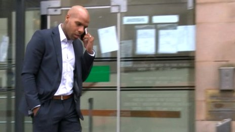 Marlon King leaving court on Tuesday