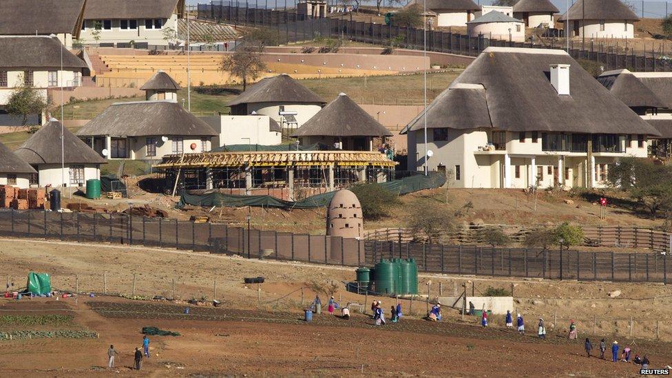 The view of the Nkandla home of President Zuma in Nkandla