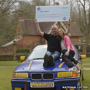 Car mechanic and racing driver Neil Trotter, with partner Nicky Ottaway,