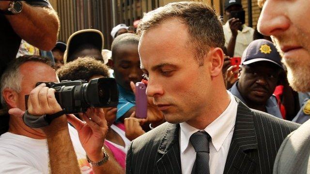 Oscar Pistorius outside court