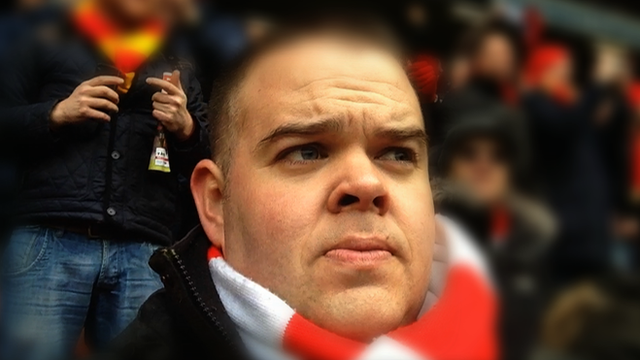 Arsenal supporter Anthony Joy