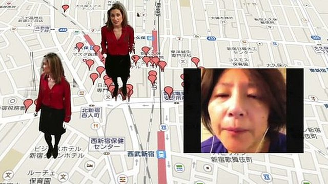 BBC Trending reporter Anne-Marie Tomchak on Google maps