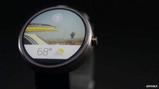 Mock-up of Android Wear watch