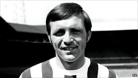 Jeff Astle the former West Bromwich Albion striker