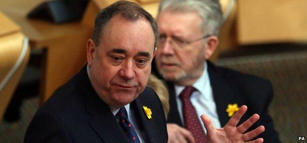 Alex Salmond in parliament