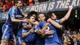 Chelsea celebrate Gary Cahill's goal