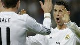 Real's Cristiano Ronaldo, right, celebrates with Gareth Bale