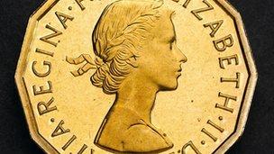 Three pence piece