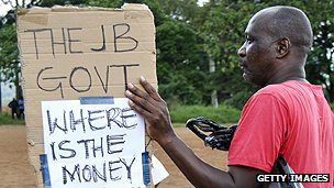 Malawian anti-corruption protester