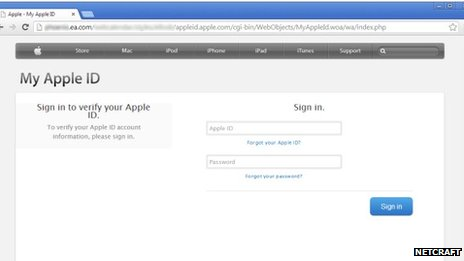 Apple ID screenshot