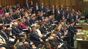 George Osborne in front of the government benches