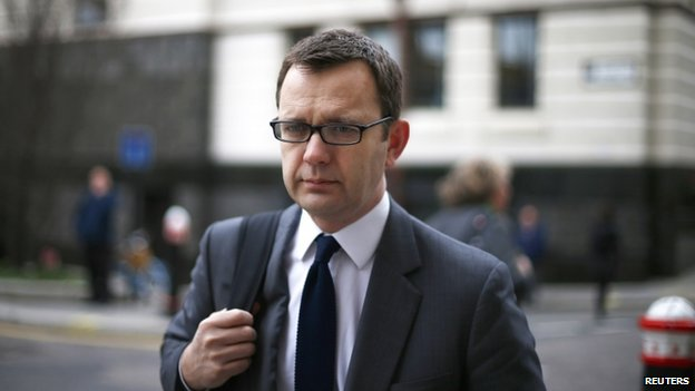 Former Editor of the News of the World Andy Coulson arrives at the Old Bailey