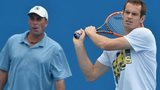 Ivan Lendl watches Andy Murray in training