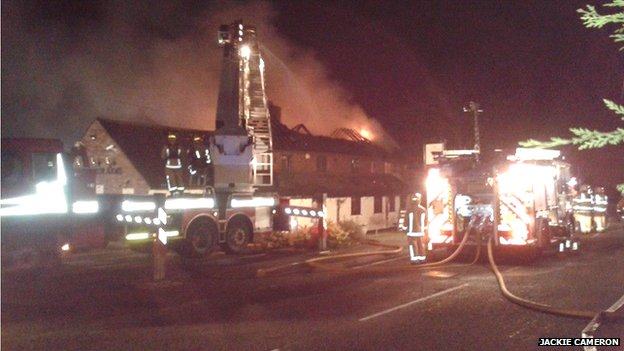 Pub on fire