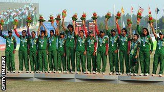 The Bangladesh team