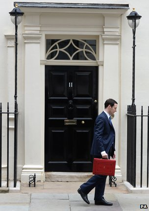 George Osborne at 11 Downing Street