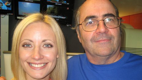 Linsey Hipgrave and Danny Baker