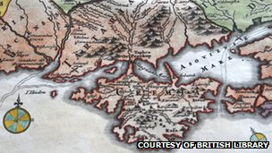 18 century map of Crimea, courtesy of British Library