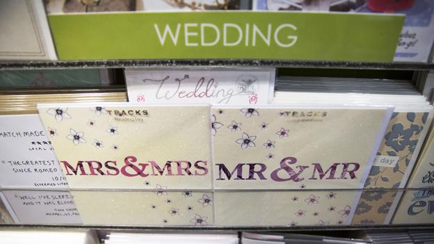 Gay wedding congratulations cards