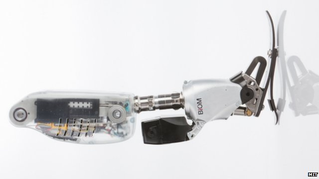 Researchers at the Massachusetts Institute of Technology have developed a prosthetic leg with powered ankle joint