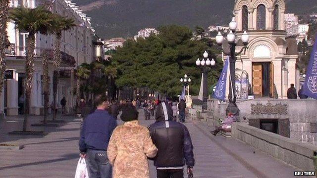 A street in Crimea