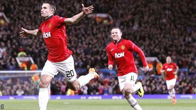 Robin van Persie and Wayne Rooney