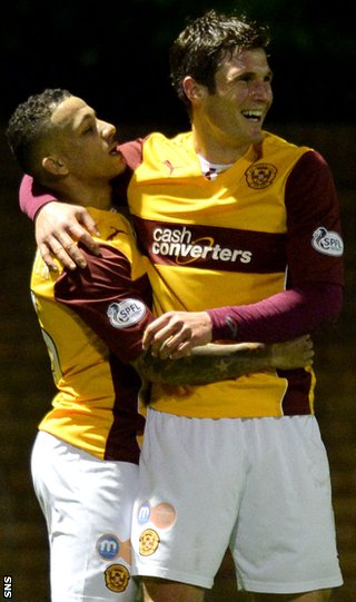 Lionel Ainsorth and John Sutton celebrate