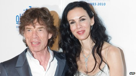 L'Wren Scott and Sir Mick Jagger appeared in Cannes, France, on 19 May 2010