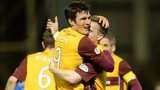 Motherwell scorer John Sutton celebrates