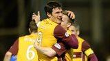 Motherwell scorer John Sutton celebrates