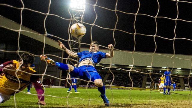 John Sutton scores for Motherwell against Inverness